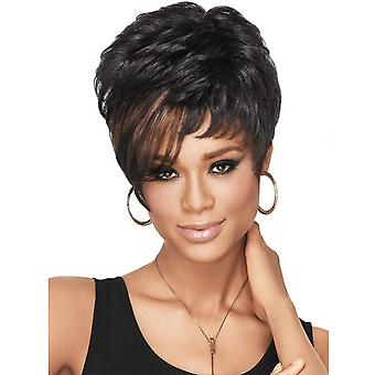 Brand Mall Wigs, Lace Wigs, Realistic Fluffy Short Hair Curly Black Wigs