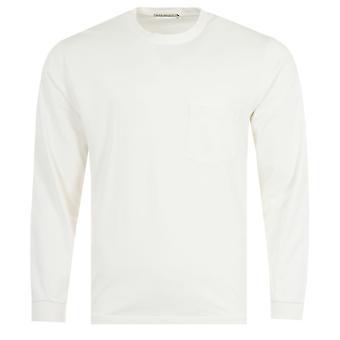 Nudie Jeans Co Rudi Long Sleeve Pocket T-Shirt - Chalk White