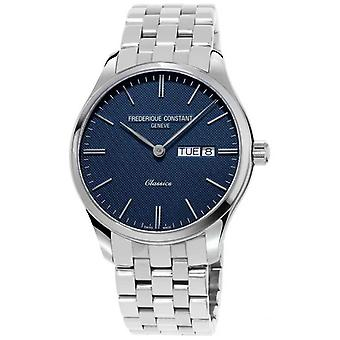 Frederique Constant Men's Classic Quartz | Stainless Steel Bracelet | Blue Dial FC-225NT5B6 Watch