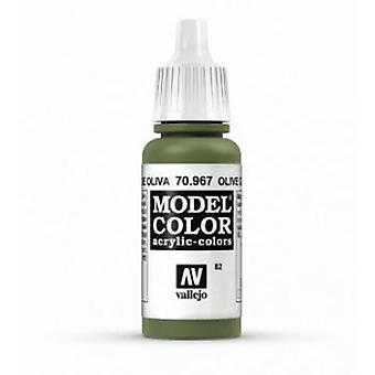 Vallejo Model Color 17ml Acrylic Paint - 967 Olive Green