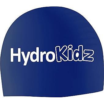 HydroKidz Children's Silicone Swim Caps -Navy Blue