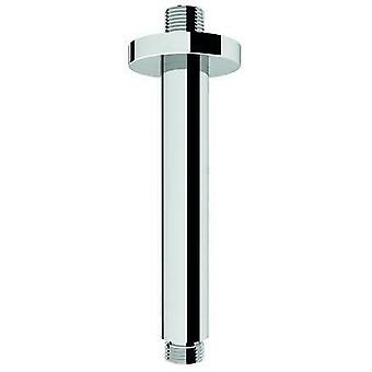 Croydex Shower Arm Ceiling Over Head Fixed Straight - Round Brass - 150mm x 25mm