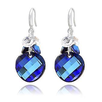 Sininen kristalliklusteri korvakorut
