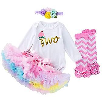 Toddler Girls My 2st Birthday Outfits, Long Sleeve Romper Tutu Fusta Leg Warmers Headband