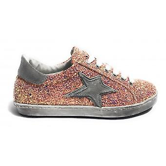 Shoes Woman Tony Wild Sneaker Leather Glitter Pink Star Suede Ds18tw30