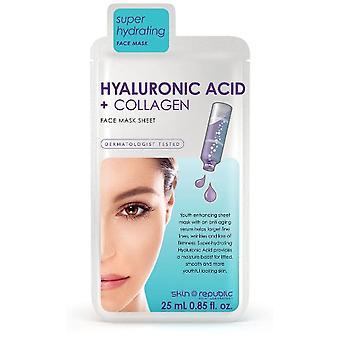 Skin Republic Hyaluronic Acid & Collagen Face Mask Sheet