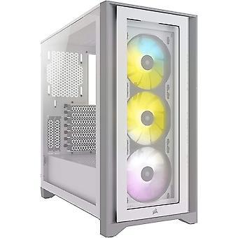 HanFei iCUE 4000X RGB Mid-Tower-ATX-Gehuse mit Gehrtetem Glas (Seiten-und Frontscheiben aus Gehrtetem