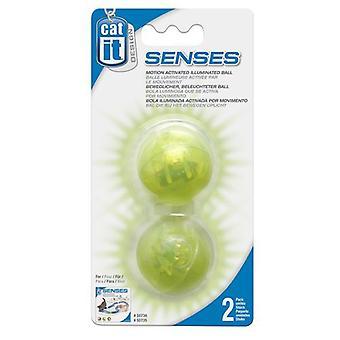 Catit Catit Design Senses Motion Activated Illuminated Ball for Speed Circuit 2 pcs