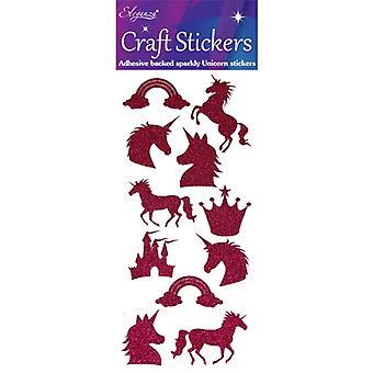 Oaktree UK Ltd - Glitter Unicorn Set Fuchsia