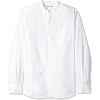 Goodthreads Men's Standard-Fit Pitkähihainen Nauha-Kaulus Oxford Shirt, -valkoinen, XXX-Large