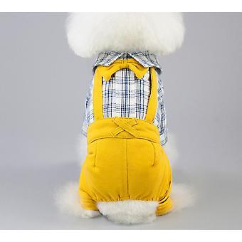 Gentleman overaller vår och sommar husdjur kläder