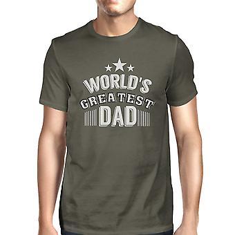 Welten Greatest Dad Mens Dunkel grau Rundhals-t-Shirt