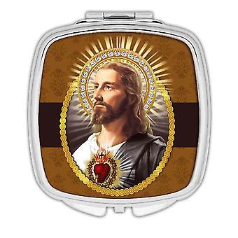 Miroir compact cadeau: Jésus catholique