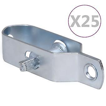 vidaXL Fence Wire Tensioner 25 pcs. 90 mm Steel Silver