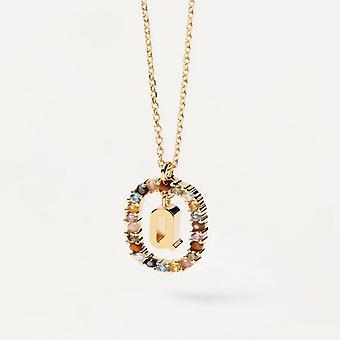 Halsband Kvinna P D Paola CO01-276-U - Plaqu guld Dor