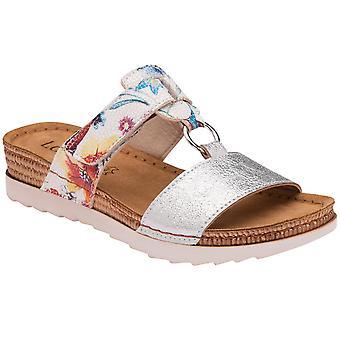 莲花热那亚妇女滑在凉鞋上