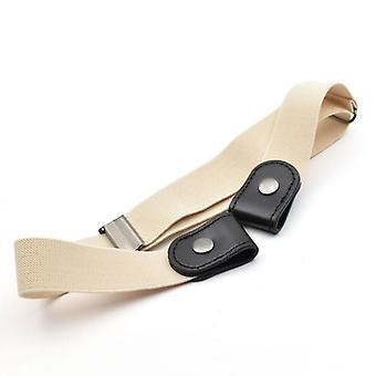 Sin cinturón elástico de cintura elástico con hebilla