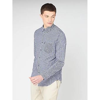 Ben Sherman Signature Gingham Shirt - Dark Blue
