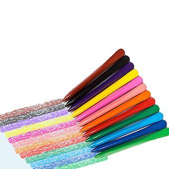 12 farger barnas trekant fargestifter student farge tegning fargestifter satt trygt og giftfritt