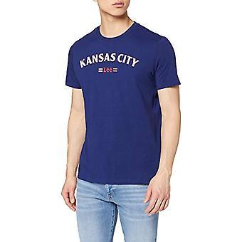 Lee Kansas Tee T-Shirt, Blue (Blueprint LH), Small Man