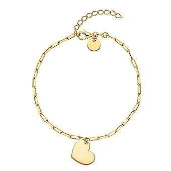 "OELANI - Women's bracelet in silver 925 gold plated, patterned chain, adjustable length ""LOVE"