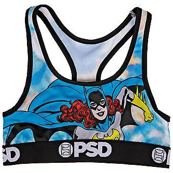 DC Batgirl Comic Pose Microfiber Blend Sports Bra