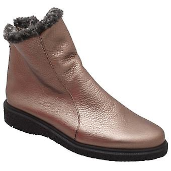 Arche Crepe Sole Pull On Bronze Ankle Boot