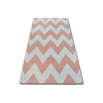 Rug SKETCH - FA66 pink/cream - Zigzag