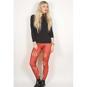 Avenged Sevenfold - Death Bat Ladies Small-Medium Fashion Leggings - Red,White,Blue