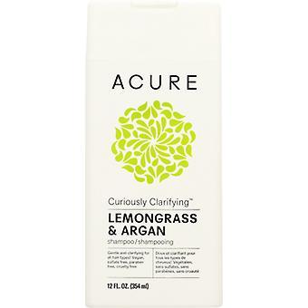 Acure Shampoo Curiously Clarifyng, Lemongrass & Argan 8 Oz