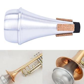 Mykkä trumpetille, alumiiniset suorat trumpetit, jazz-instrumentti, harjoitus