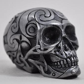 keltisk hodeskalle pistol metall figurine liten h6cm