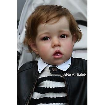 28 Zoll große Größe riesiges Baby Kleinkind wiedergeborene Puppe Kit Liam Soft Touch frische Farbe