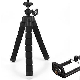 Telefoon statief, draagbare en verstelbare statiefstandaard, camera statief (zwart)