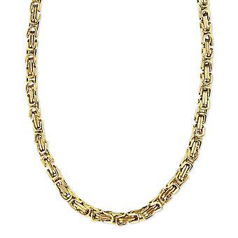 Bracelet royal 6mm bracelet homme collier pour hommes, 17cm chaînes en acier inoxydable en or