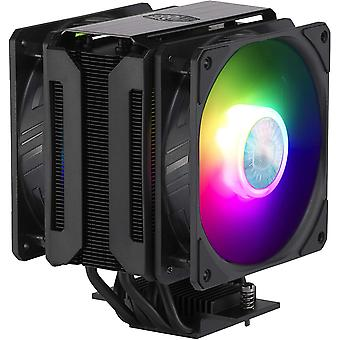 Cooler Master MasterAir MA612 Stealth Universal Socket 120mm PWM 1800RPM Addressable RGB LED Fan CPU Cooler with Wired Addressable RGB Controller