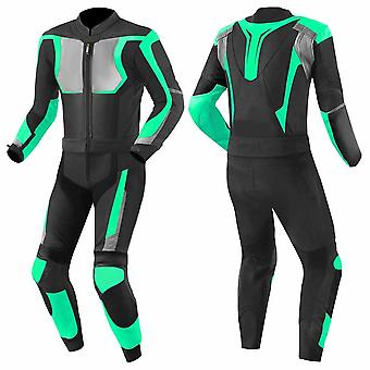 Motorbike suit cowhide 100% pure leather mb-01
