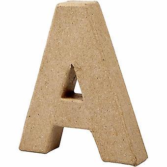 ÚLTIMOS POCOS - 10cm Papel pequeño Mache Carta A | Formas de Papel Maché