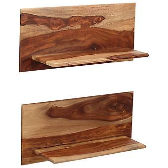 vidaXL wandplanken 2 st. 58 x 26 x 20 cm massief hout