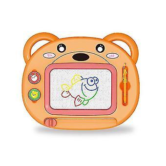 Magneettinen piirustuslauta lapsille (oranssi)