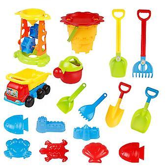 20 Piece Beach Legetøj Sand Sæt Sand Spil Sandpit Toy Summer Udendørs Legetøj