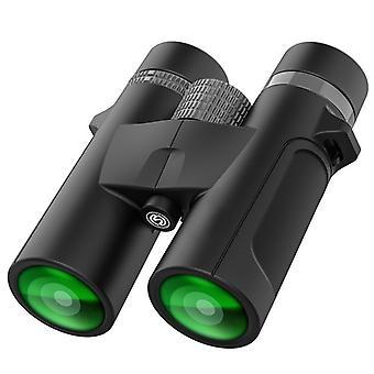 Binocolo compatto 10x42 per adulti Binocolo impermeabile ad alta potenza per bird watching Caccia Viaggi Osservazione delle stelle Concerti Sport Wildlife Scenario Regali per bambini, (nero)