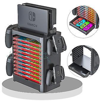 Nintendos Nintend Switch -konsolin lisävarusteet kotelon tallennustelineen peli-CD: lle