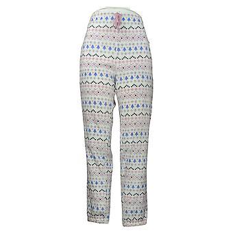Soft & Cozy Women's Novelty Printed Fleece Pajama Pants White 662992
