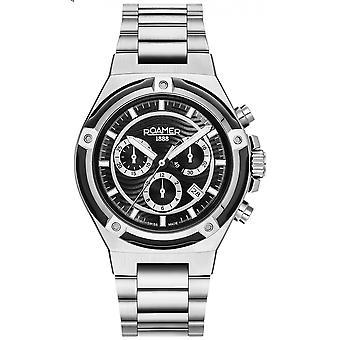 Roamer 221837 41 55 20 Men's Tempomaster Chronograph Steel Bracelet Wristwatch