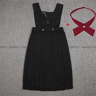 Robe d'été Femme Sans Manches Pinafore Robe Jk High School Uniforme