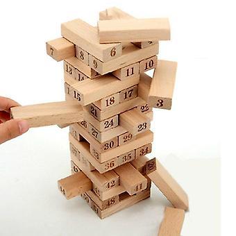 Dřevěné věž stavební bloky Hračka Stacker Extrahovat rodinné puzzle vzdělávací deska hra