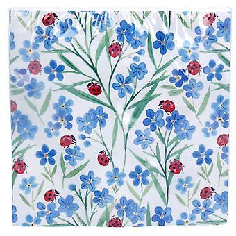 VIIMEISET MUUTAMAT - 20 Spring Ladybird & Forget Me Not Paper Party Lautasliinat