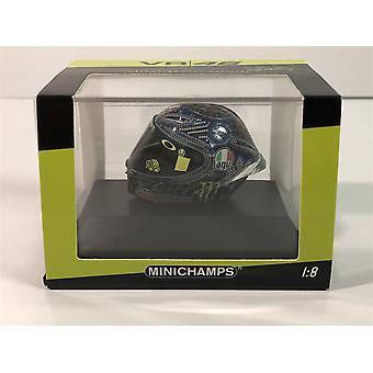 Minichamps 399180076 Valentino Rossi AGV Hjelm VinterTest 27/01/2018 1:8 Skala