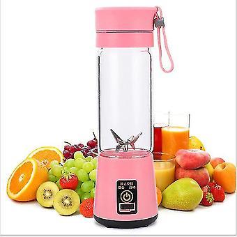 Juicers portable electric juicer usb fruit mixers pink